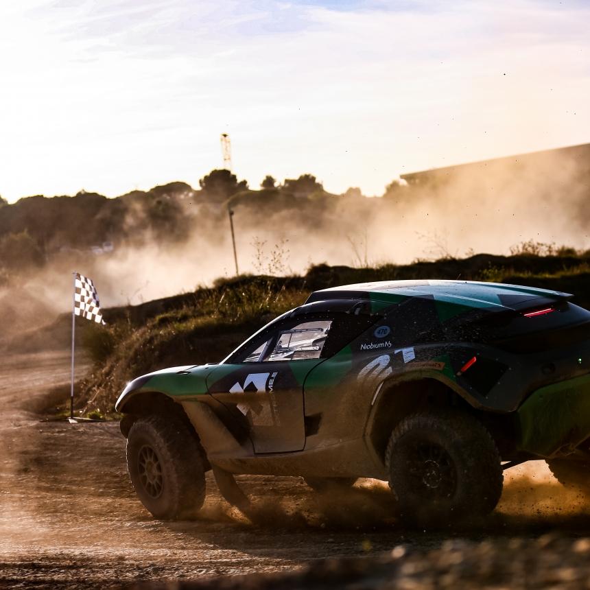 | Driver: Kevin Hansen| Car: Odyssey 21|| Photographer: Shivraj Gohil| Event: Extreme E Testing October 2019| Location: Chateau De Lastours| Series: Extreme E| Country: France |