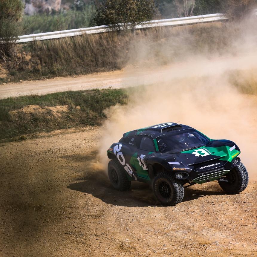 | Photographer: Shivraj Gohil| Event: Extreme E Testing October 2019| Location: Chateau De Lastours| Series: Extreme E| Country: France || Driver: Mikaela Ahlin-Kottulinsky| Car: Odyssey 21|