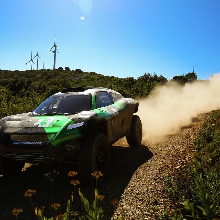 | Driver: Timmy Hansen| Car: Odyssey 21|| Photographer: Shivraj Gohil| Event: Extreme E Testing October 2019| Location: Chateau De Lastours| Series: Extreme E| Country: France |