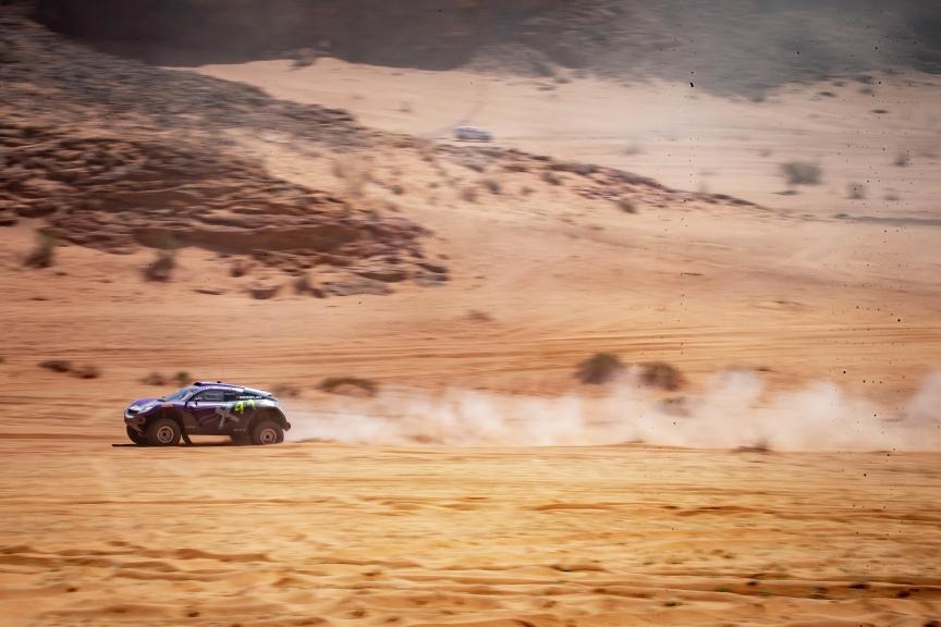 ALULA, SAUDI ARABIA - APRIL 04: Cristina Gutierrez (ESP)/Sebastien Loeb (FRA), X44 during the Desert X-Prix at AlUla on April 04, 2021 in AlUla, Saudi Arabia. (Photo by Colin McMaster / LAT Images)