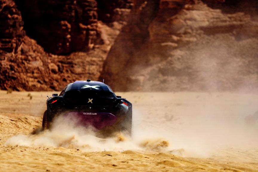 ALULA, SAUDI ARABIA - APRIL 04: Cristina Gutierrez (ESP)/Sebastien Loeb (FRA), X44 during the Desert X-Prix at AlUla on April 04, 2021 in AlUla, Saudi Arabia. (Photo by Sam Bloxham / LAT Images)