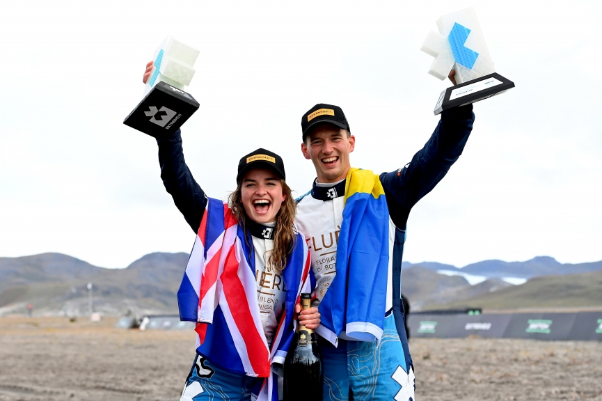 KANGERLUSSUAQ, GREENLAND - AUGUST 29: 1st position, Catie Munnings (GBR)/Timmy Hansen (SWE), Andretti United Extreme E during the Arctic X-Prix at Kangerlussuaq on August 29, 2021 in Kangerlussuaq, Greenland. (Photo by Sam Bagnall / LAT Images)